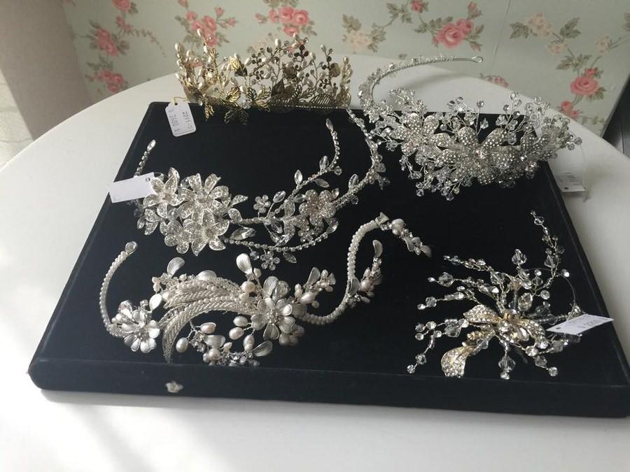 新娘頭飾│流線般的設計線條感森林系頭飾
