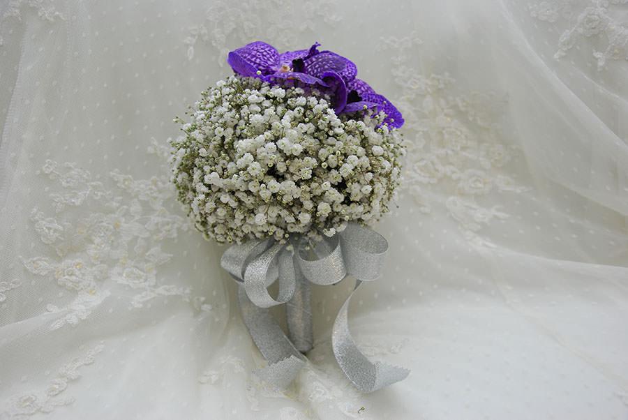 浪漫滿天星新娘捧花