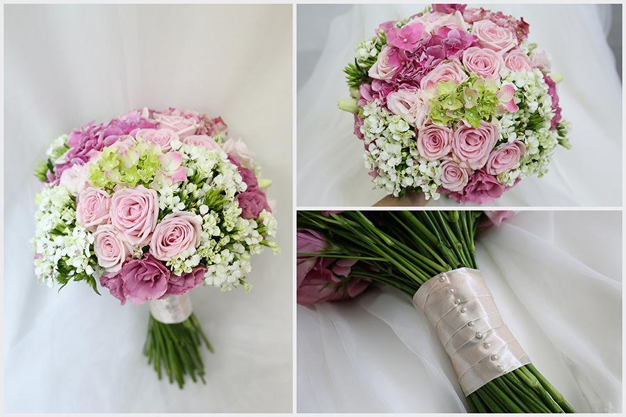 歐美風格大流行的自然莖新娘捧花