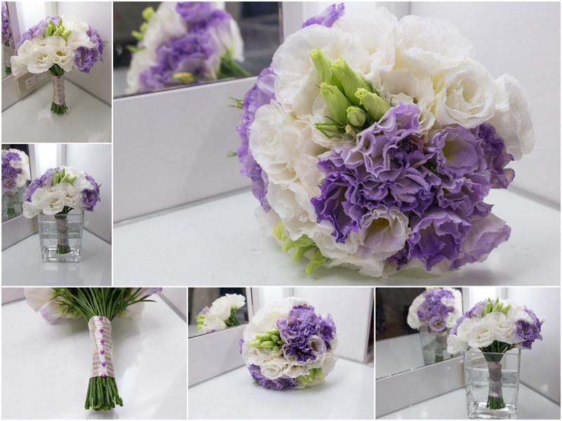 浪漫清新風紫色新娘捧花