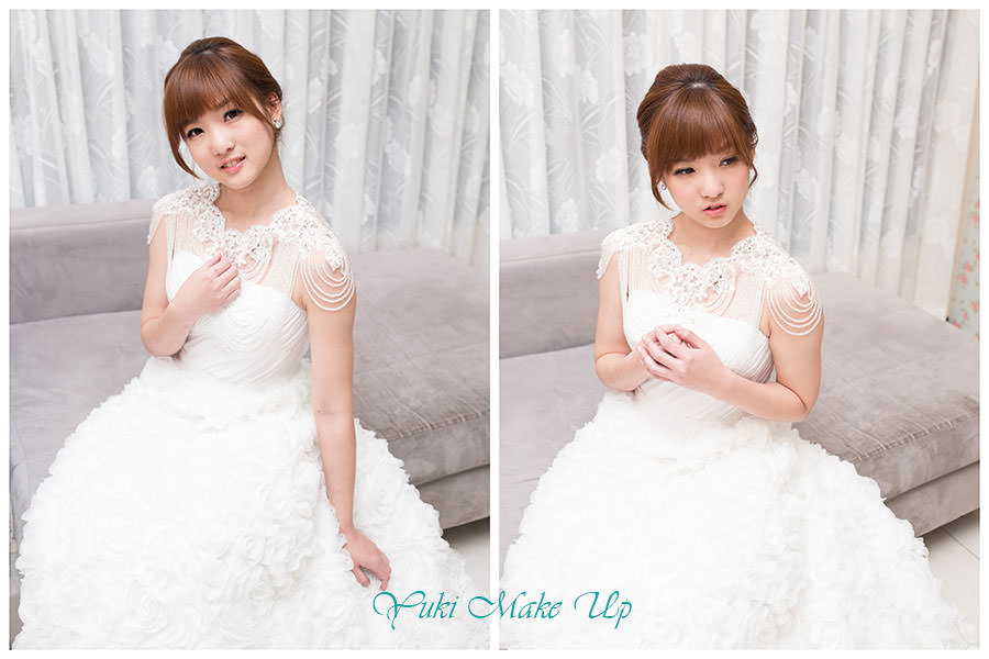 新秘Yuki│白紗造型│新娘包頭│新娘髮型