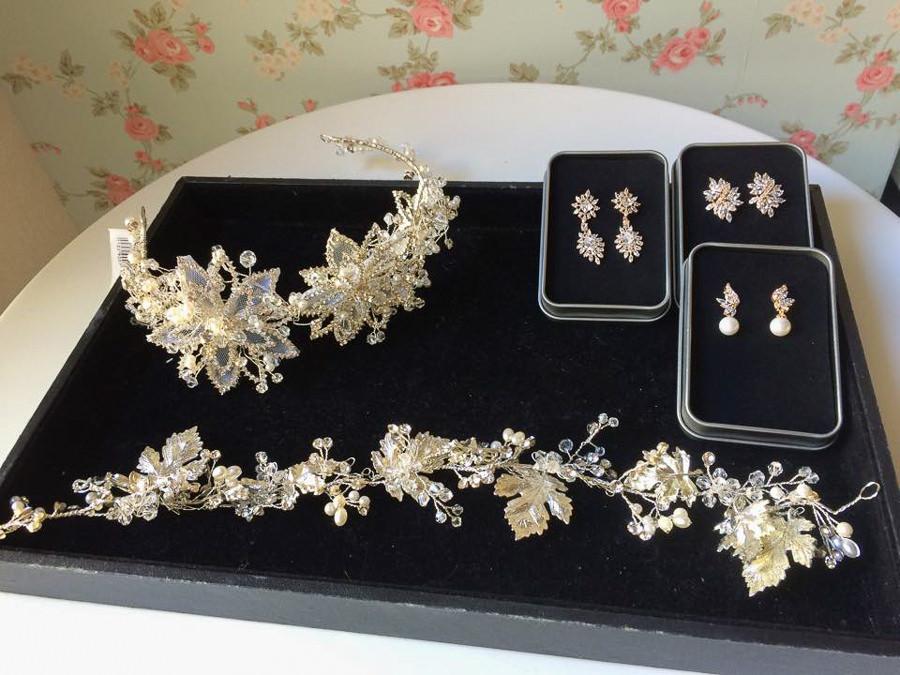 新娘飾品│設計感耳環、華麗風頭飾