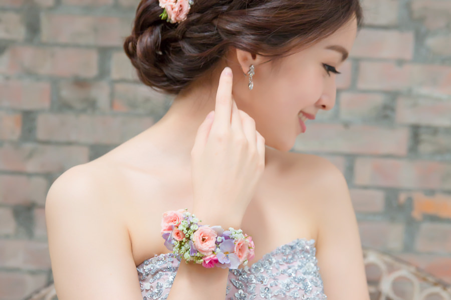 新娘雜誌作品│新娘物語-粉嫩浪漫感新娘手腕花