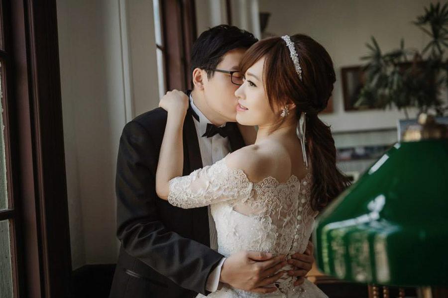 自助婚紗│典雅的蕾絲罩衫造型~攝影Donfer-啟鵬&琦玲