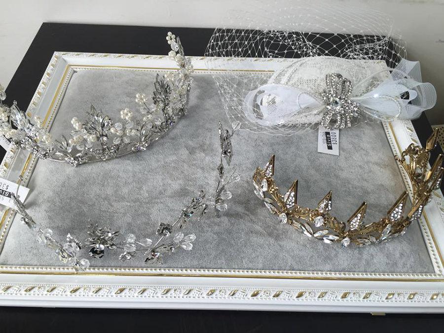 新貨入荷│歐式紗帽、設計感皇冠、復古金皇冠
