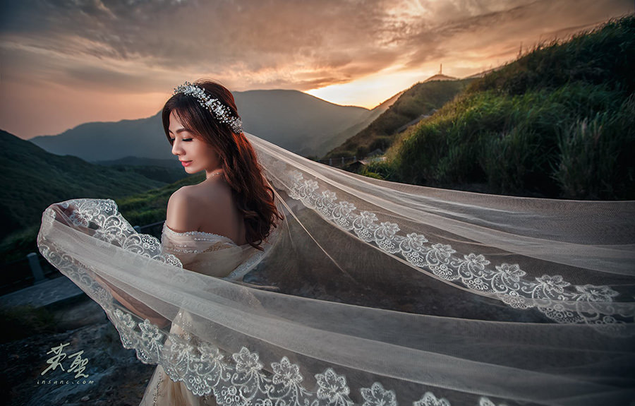 自助婚紗造型搶先看│線條感鬆鬆的包頭造型~攝影英聖-智傑&惠文