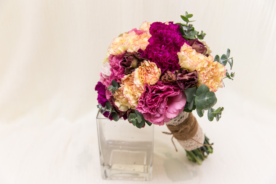古典艷麗感的深色新娘捧花│Amy婚宴