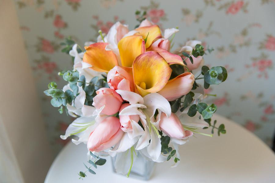 充滿高雅感的自然莖新娘捧花│德翰&昱潔自助婚紗