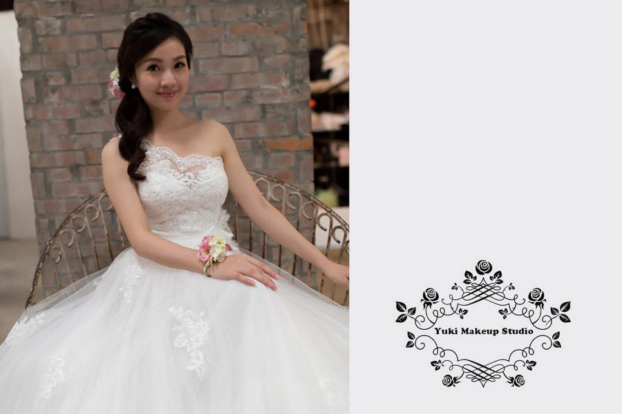 新娘雜誌作品│新娘物語-甜美感新娘鮮花側邊編髮造型