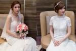新娘飾品推薦│蕾絲罩衫│白紗造型│高領罩衫