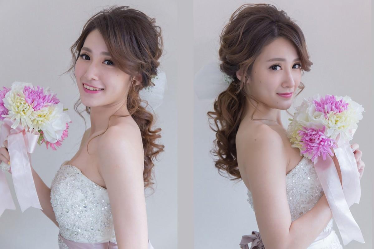 新娘造型│喜愛日本新娘髮型推薦~鮮花蝴蝶結低馬尾造型