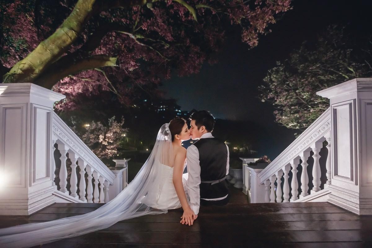 台北自助婚紗│蕾絲長頭紗造型滿溢著浪漫~攝影英聖-崑峯&秉欣