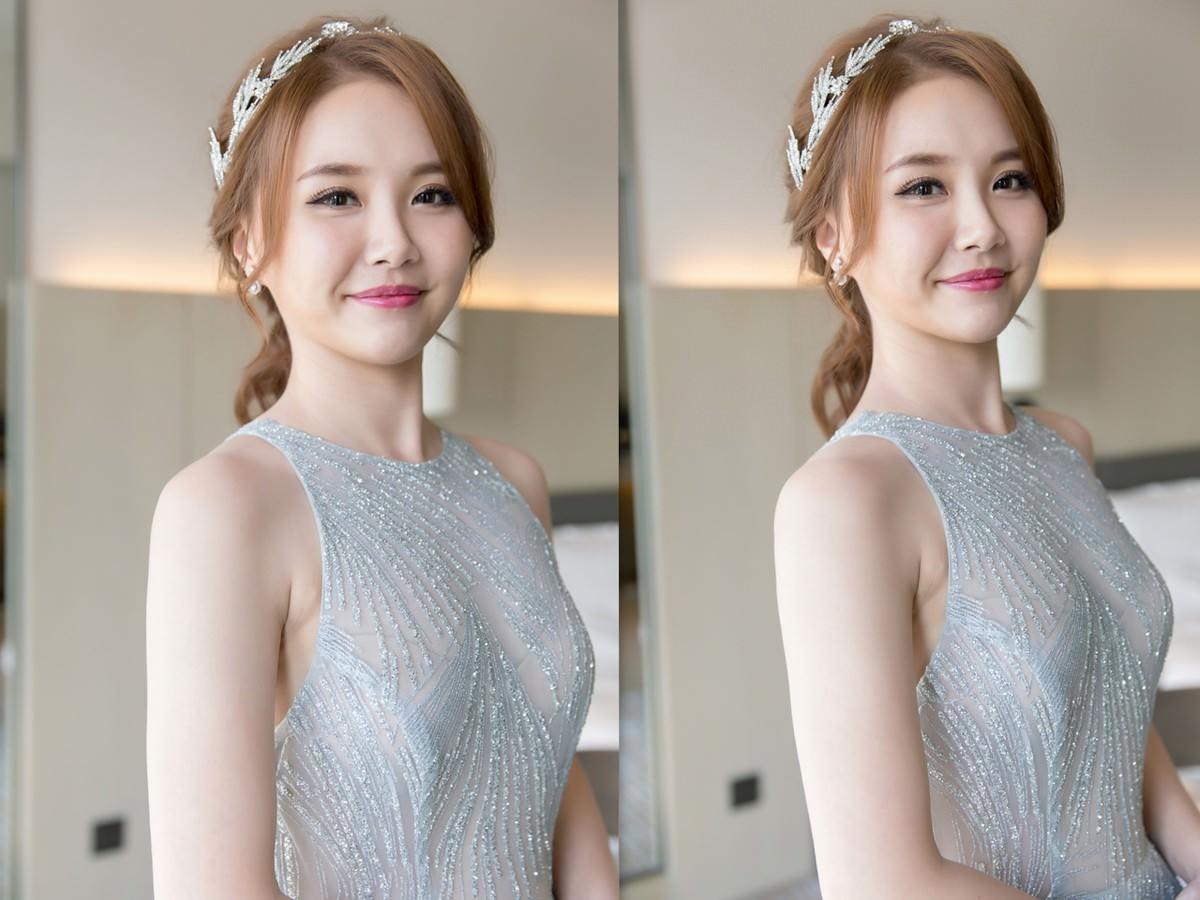 新秘Yuki│新秘推薦│北部新秘│銀色禮服│低馬尾│新娘髮型│low ponytail hairstyle│2017 Wedding Hairstyles