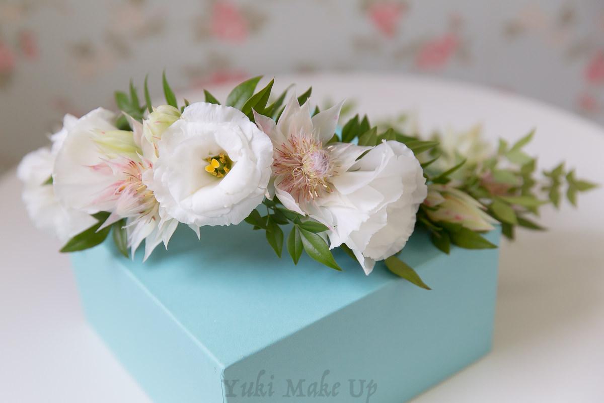 白色歐美風格鮮花大花花環
