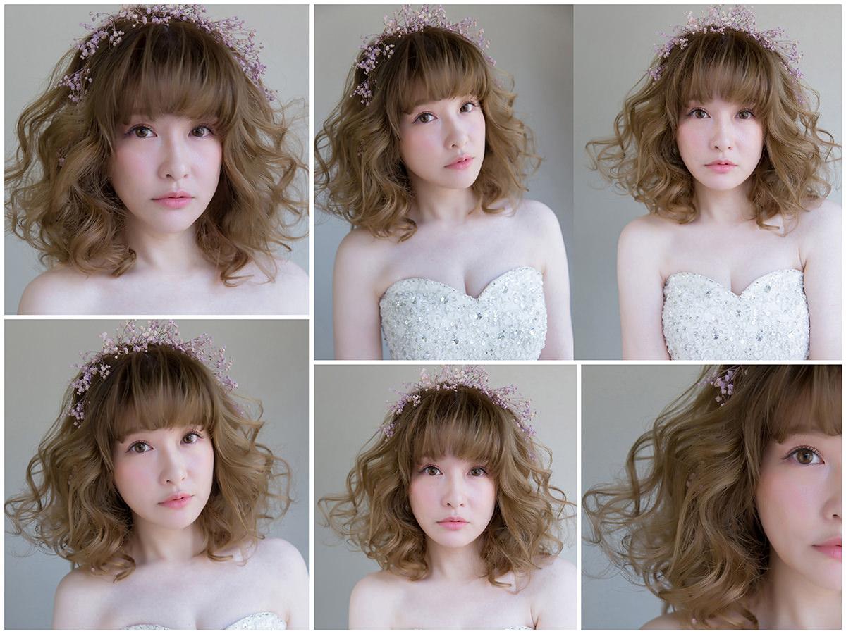新秘Yuki│新秘推薦│北部新秘│白紗造型│鮮花造型│長捲髮│短髮新娘│新娘髮型│wavy hairstyle│2017 Wedding Hairstyles