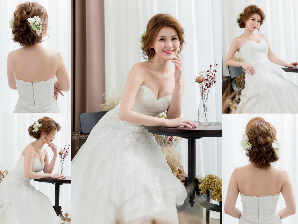 新秘Yuki│新秘推薦│北部新秘│白紗造型│不凋花造型│盤髮│新娘髮型│bun hairstyle│2017 Wedding Hairstyles