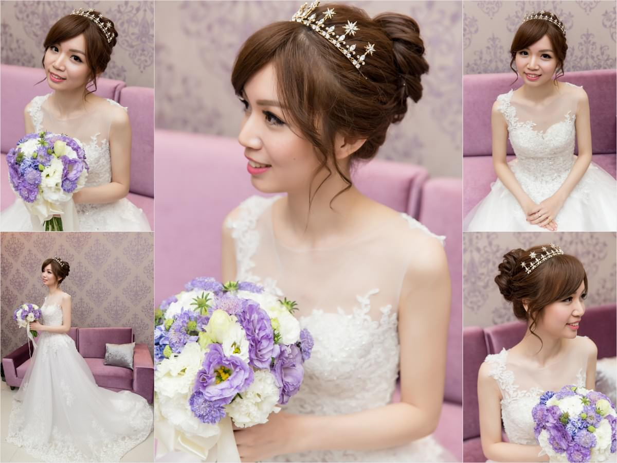 新秘推薦│北部新秘│丸子頭造型│皇冠造型|新娘髮型│bun hairstyle│2018 Wedding Hairstyles|新娘造型|新娘髮型|白紗造型|高雄新秘|新秘YUKI|婚宴造型