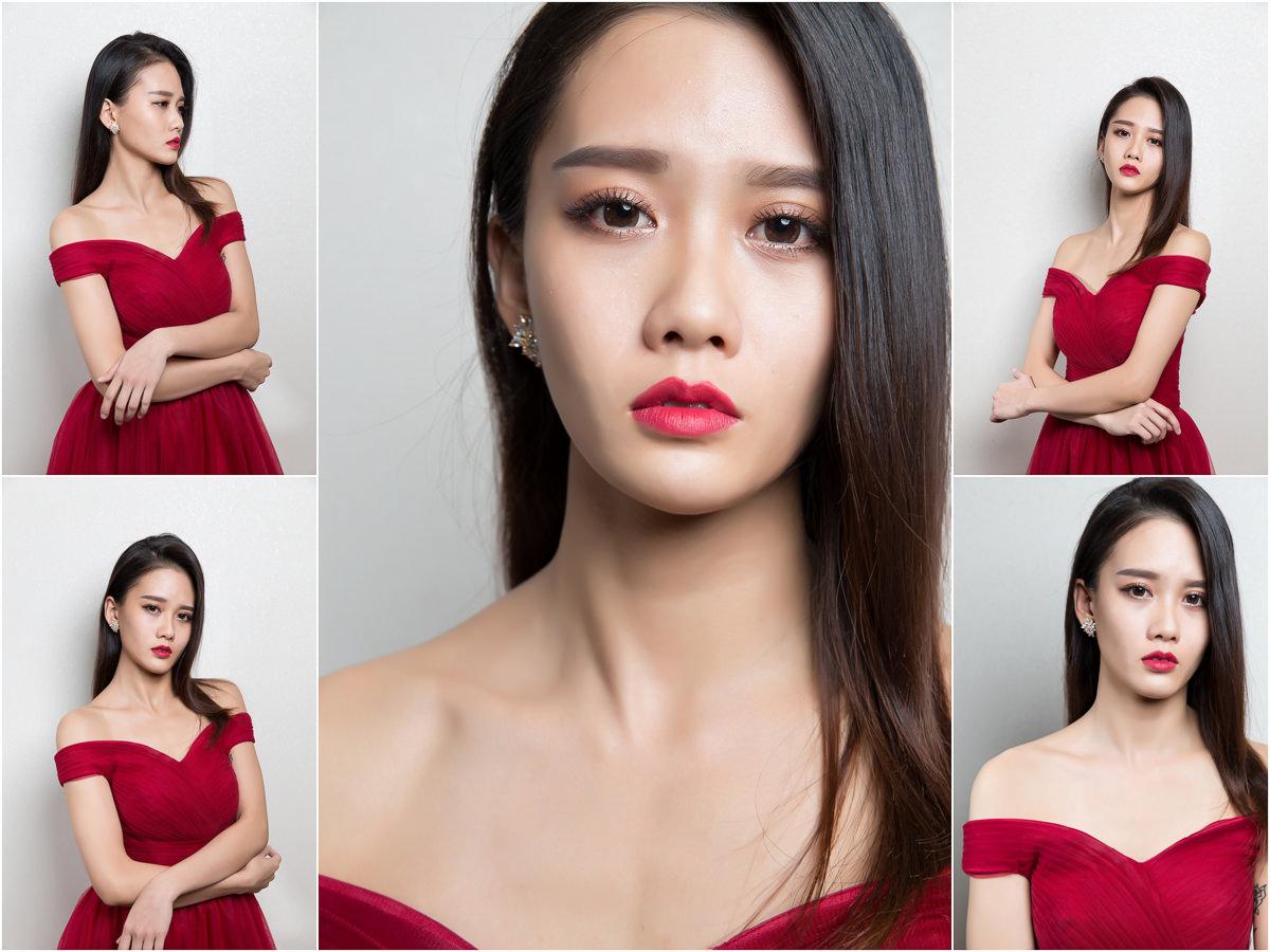 新秘Yuki│新秘推薦│北部新秘│紅色禮服│側邊髮│新娘髮型│side-swept hairstyle│2017 Wedding Hairstyles