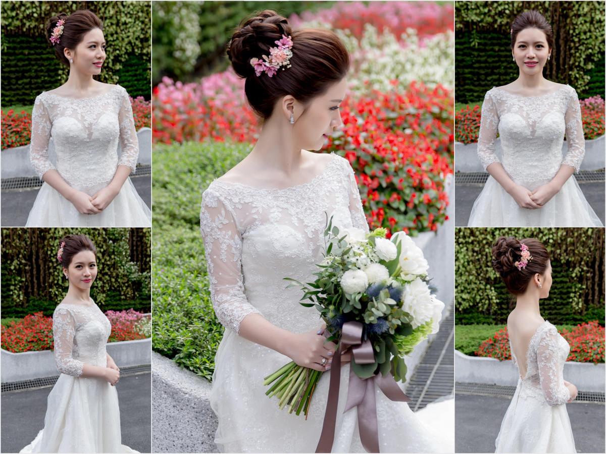 新秘Yuki│新秘推薦│北部新秘│白紗造型│乾燥花造型│盤髮│新娘髮型│bun hairstyle│2017 Wedding Hairstyles