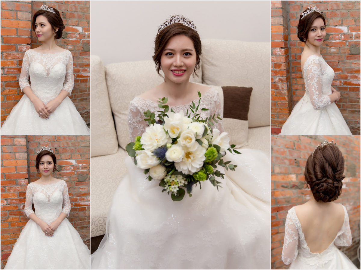新秘Yuki│新秘推薦│北部新秘│白紗造型│盤髮│新娘髮型│bun hairstyle│2017 Wedding Hairstyles