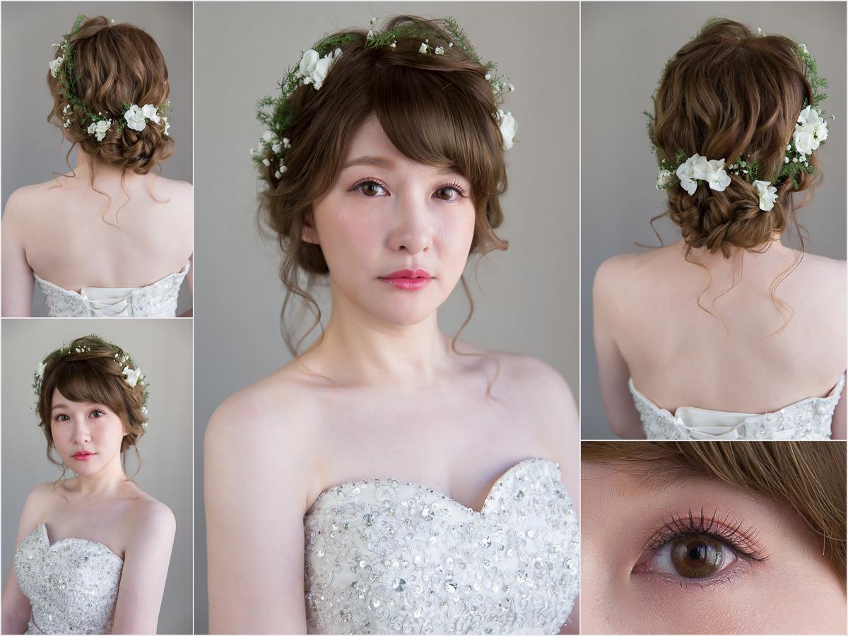 新秘Yuki│新秘推薦│北部新秘│白紗造型│鮮花造型│花環造型│盤髮│新娘髮型│bun hairstyle with flower crown│2017 Wedding Hairstyles