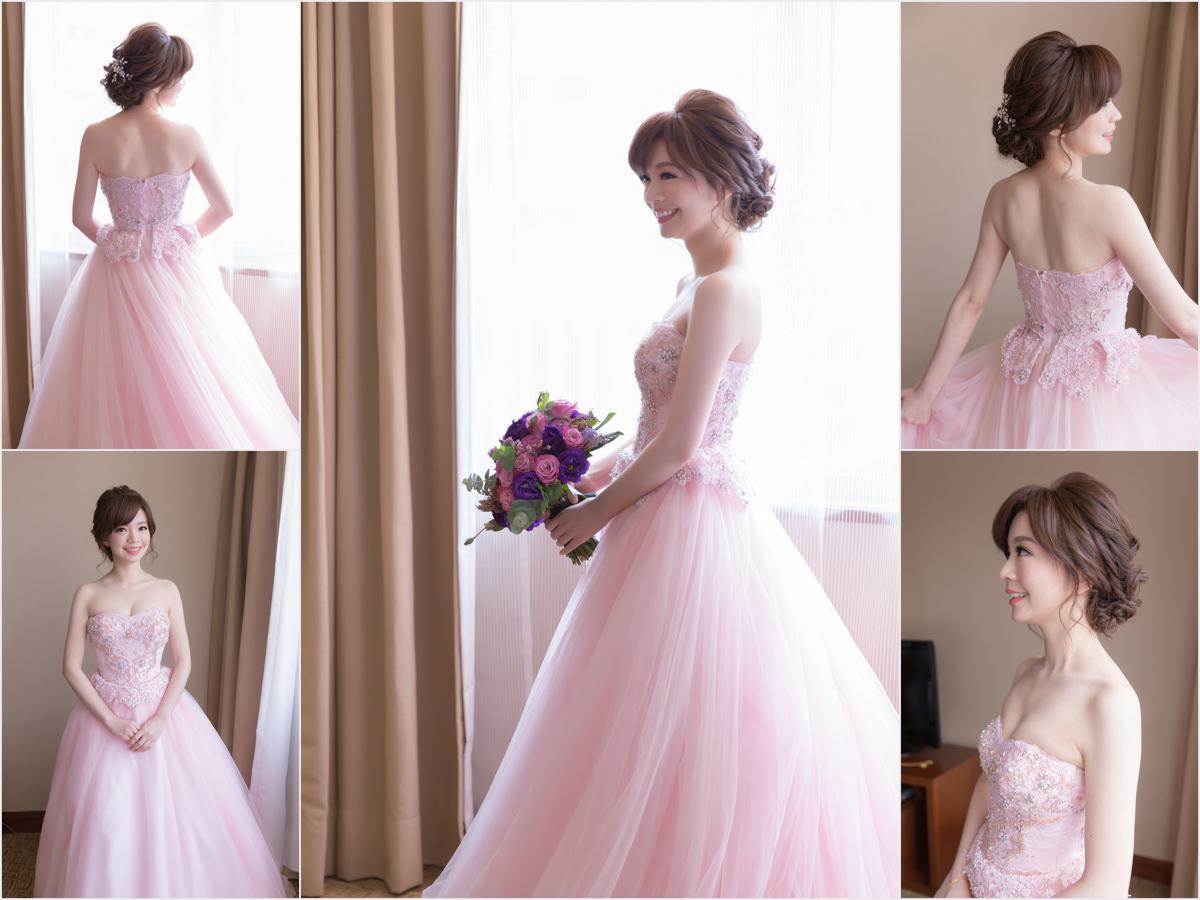 新秘Yuki│新秘推薦│北部新秘│粉紅色禮服│盤髮│新娘髮型│bun hairstyle│2017 Wedding Hairstyles