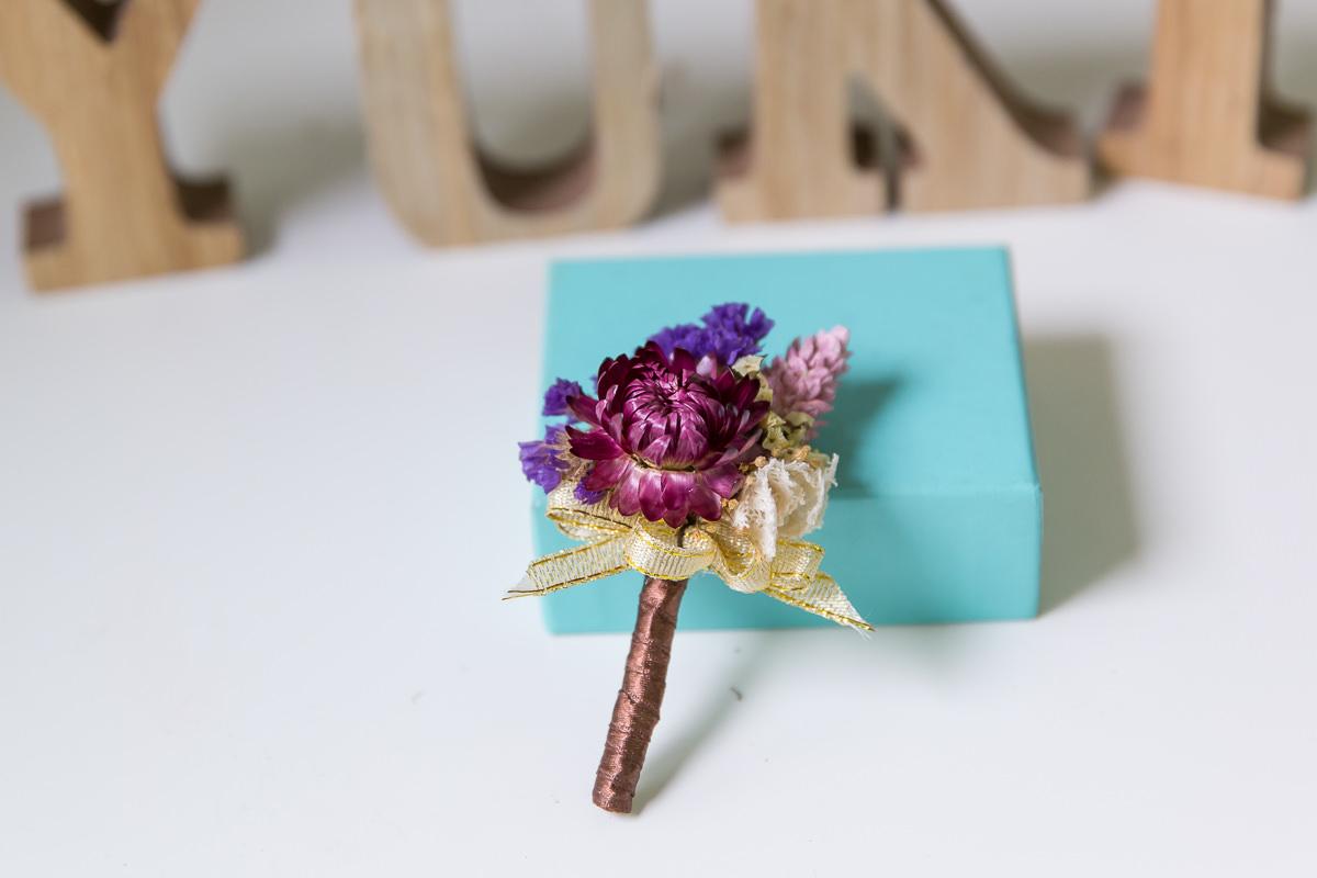 鮮花新秘│鮮花飾品│新郎胸花