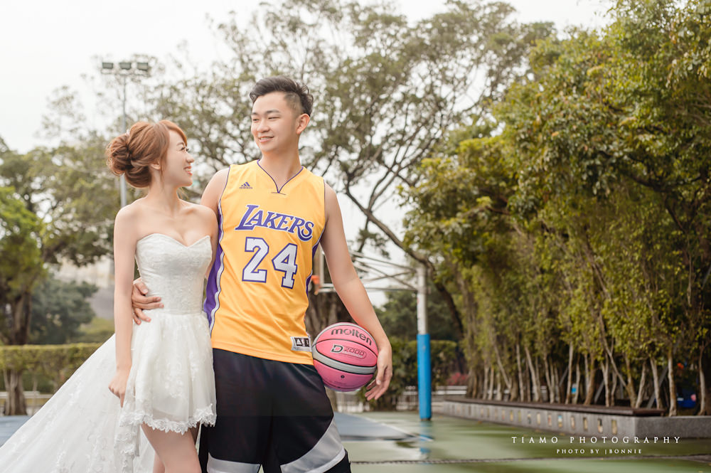 運動風自助婚紗|Yours Bridal Dress|Alisha & Lace|籃球風婚紗