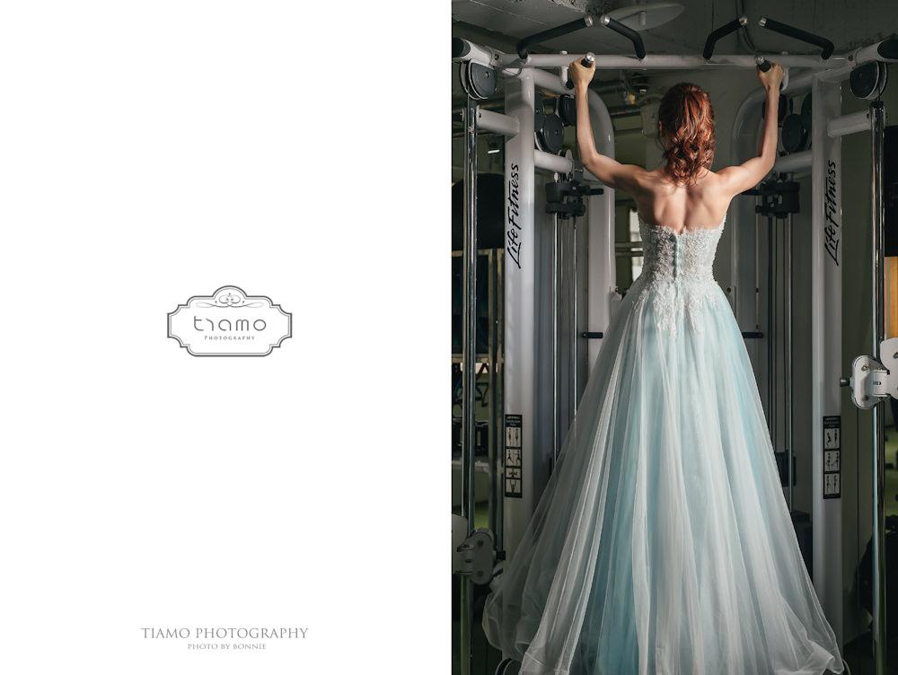運動風自助婚紗|Yours Bridal Dress|Alisha & Lace|高馬尾|Force Fitness健身房