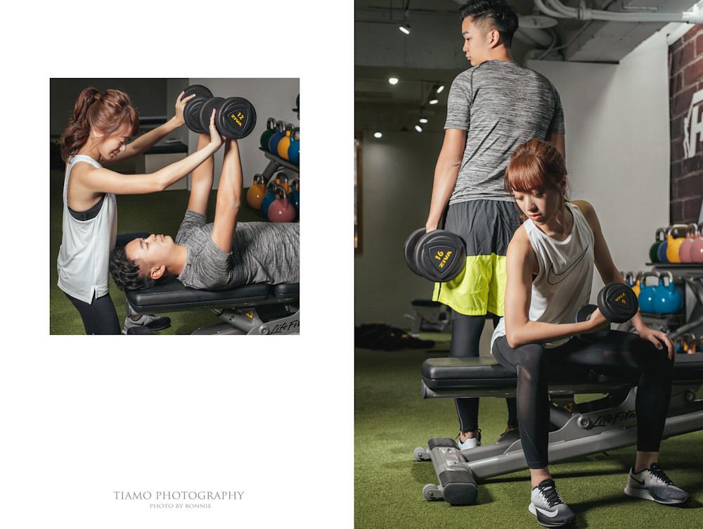 運動風自助婚紗|高馬尾|Force Fitness健身房