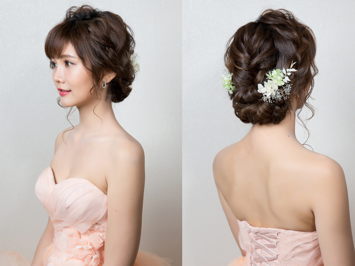 wedding four strand braid hairstyle|wedding hairstyle with flowers |wedding hairstyle|新娘造型|編髮造型|高雄新秘YUKI|