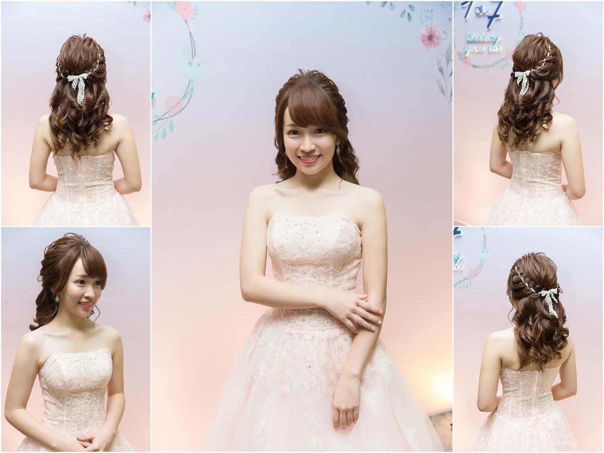 高雄新秘|wedding hairstyle|緞帶編髮公主頭|新秘推薦|丸子頭造型|高盤髮造型|新娘造型|新娘髮型|編髮造型|C型瀏海