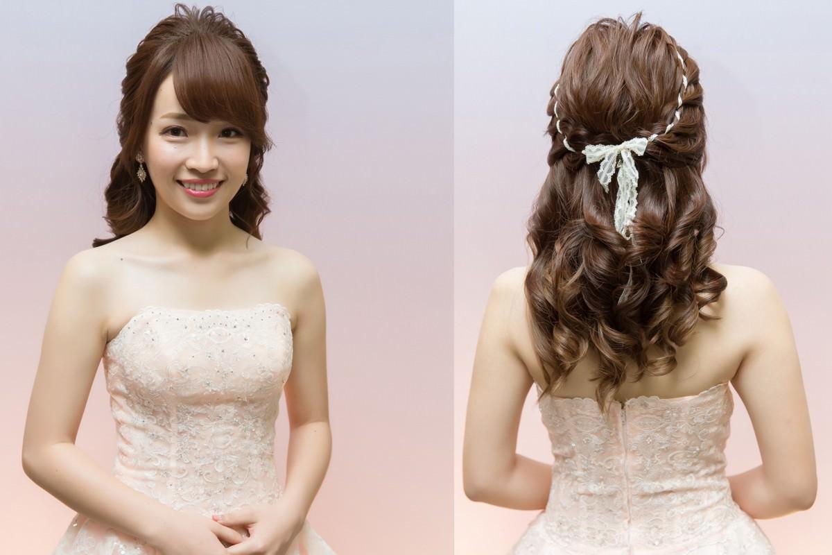 婚宴造型搶先看-年輕感緞帶編髮公主頭