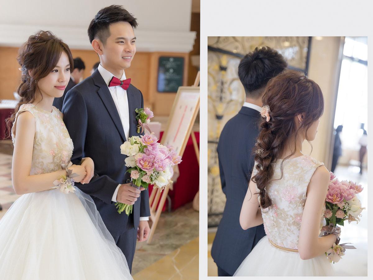 新娘造型|不凋花造型|wedding hairstyle|高雄新秘|韓系風格|自然妝感|睫毛分段黏貼|新秘YUKI|蓬鬆感|蒂米琪|編髮|