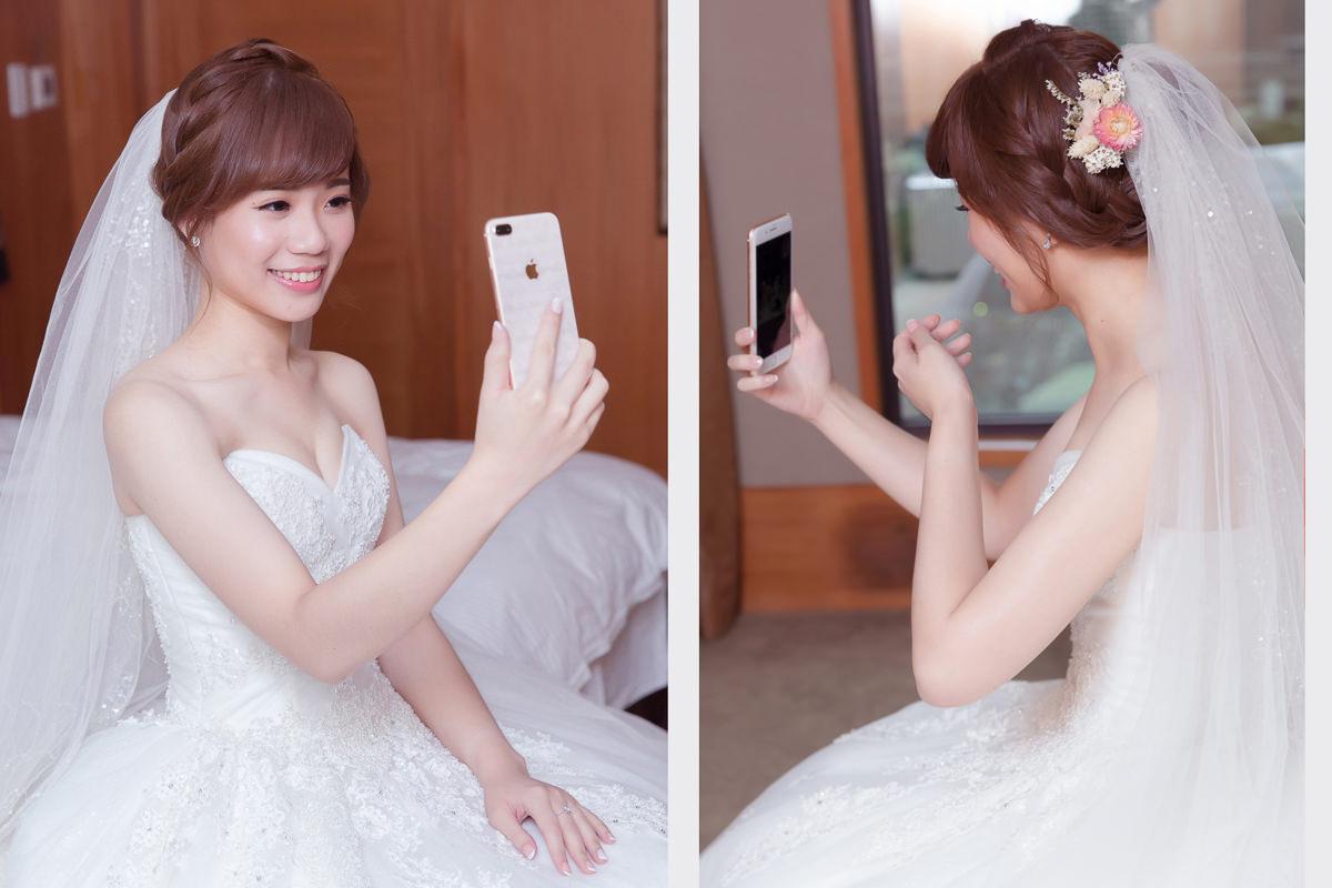 高雄新秘|新秘推薦|白紗迎娶造型|編髮造型|乾燥花造型|wedding hairstyle|C型瀏海|攝影師KHC柯宏親