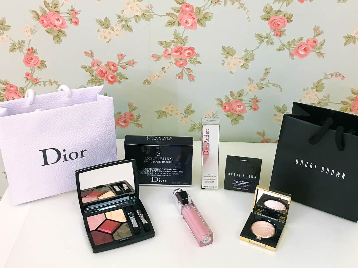 彩妝|喜歡粉色眼影及閃亮亮眼妝必收-Dior及Bobbi Brown聖誕彩妝