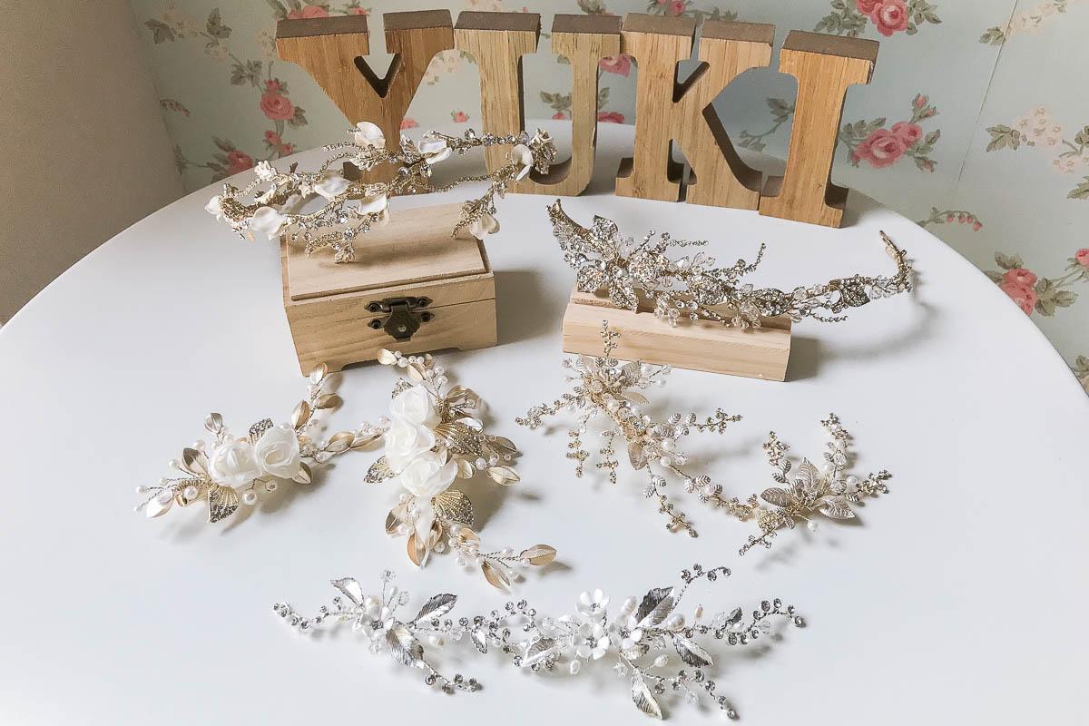 新娘頭飾|小巧可愛的古銅金頭飾