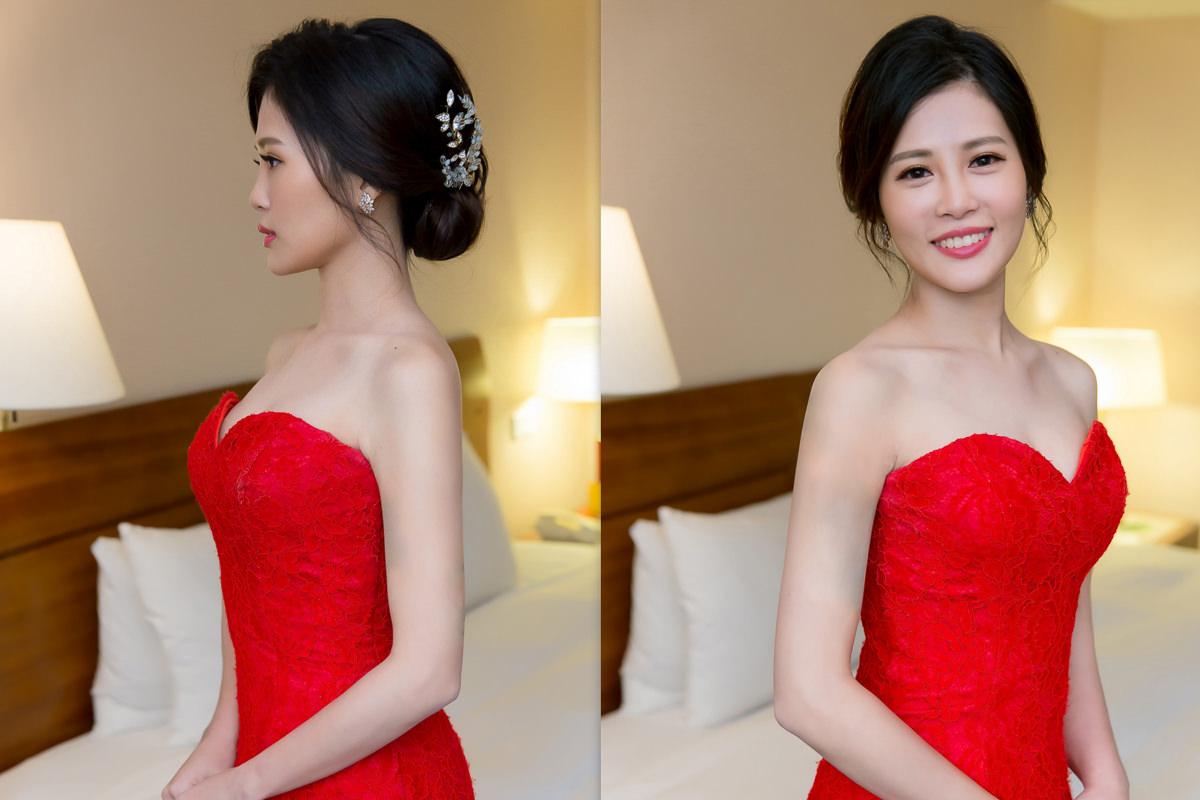 高雄新秘|wedding hairstyle|新娘造型|歐美風造型|黑髮新娘|新娘秘書YUKI|新娘髮型|盤髮造型