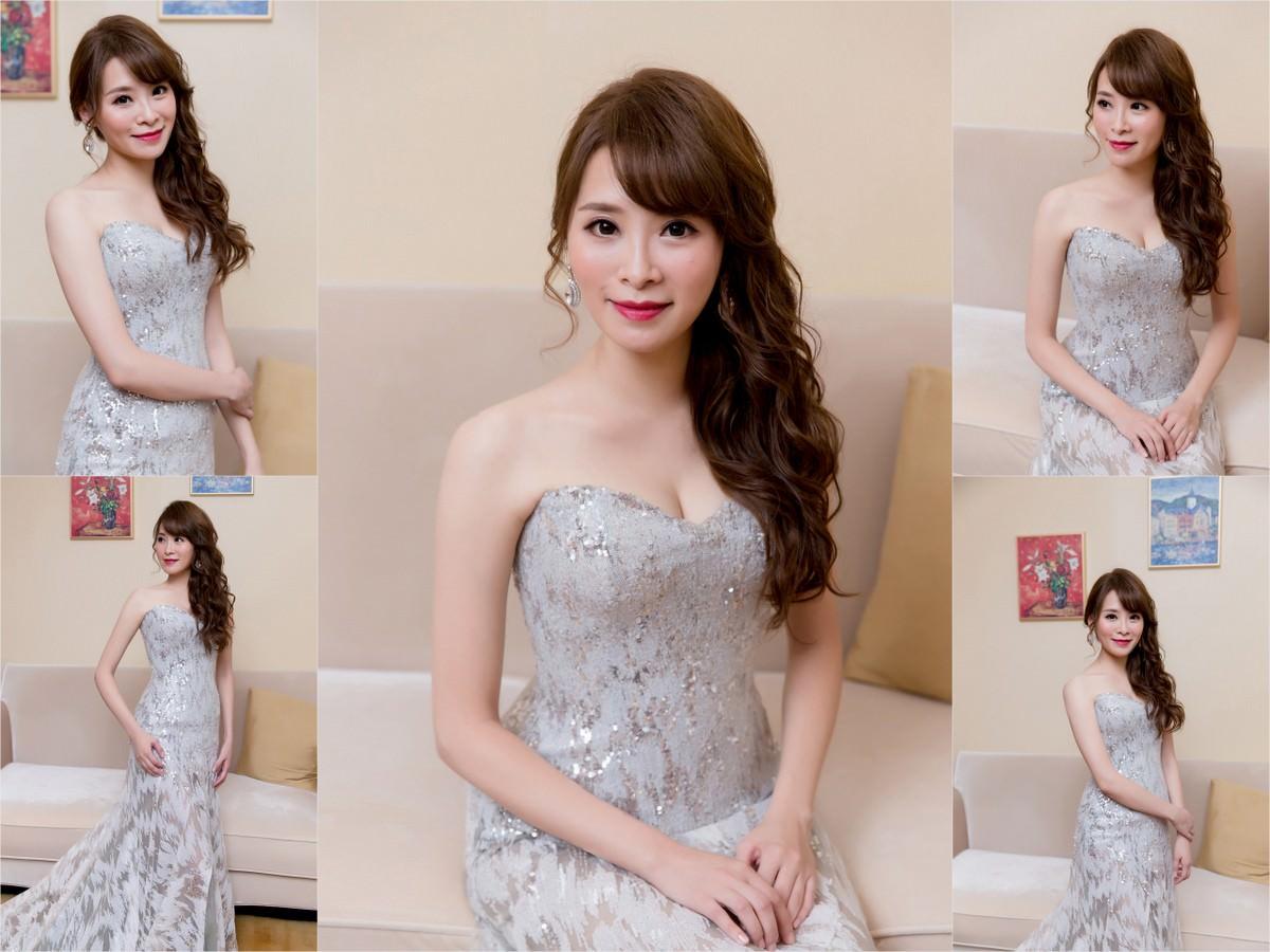 不凋花造型|白紗造型|新娘髮型|wedding hairstyle|高雄新秘YUKI|側邊髮造型|華麗風|大昌久和婚宴