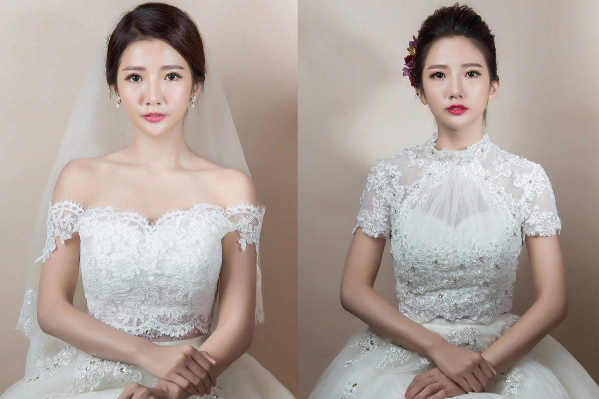新娘飾品|高領蕾絲罩衫讓你舉手投足更增添古典優雅氣息