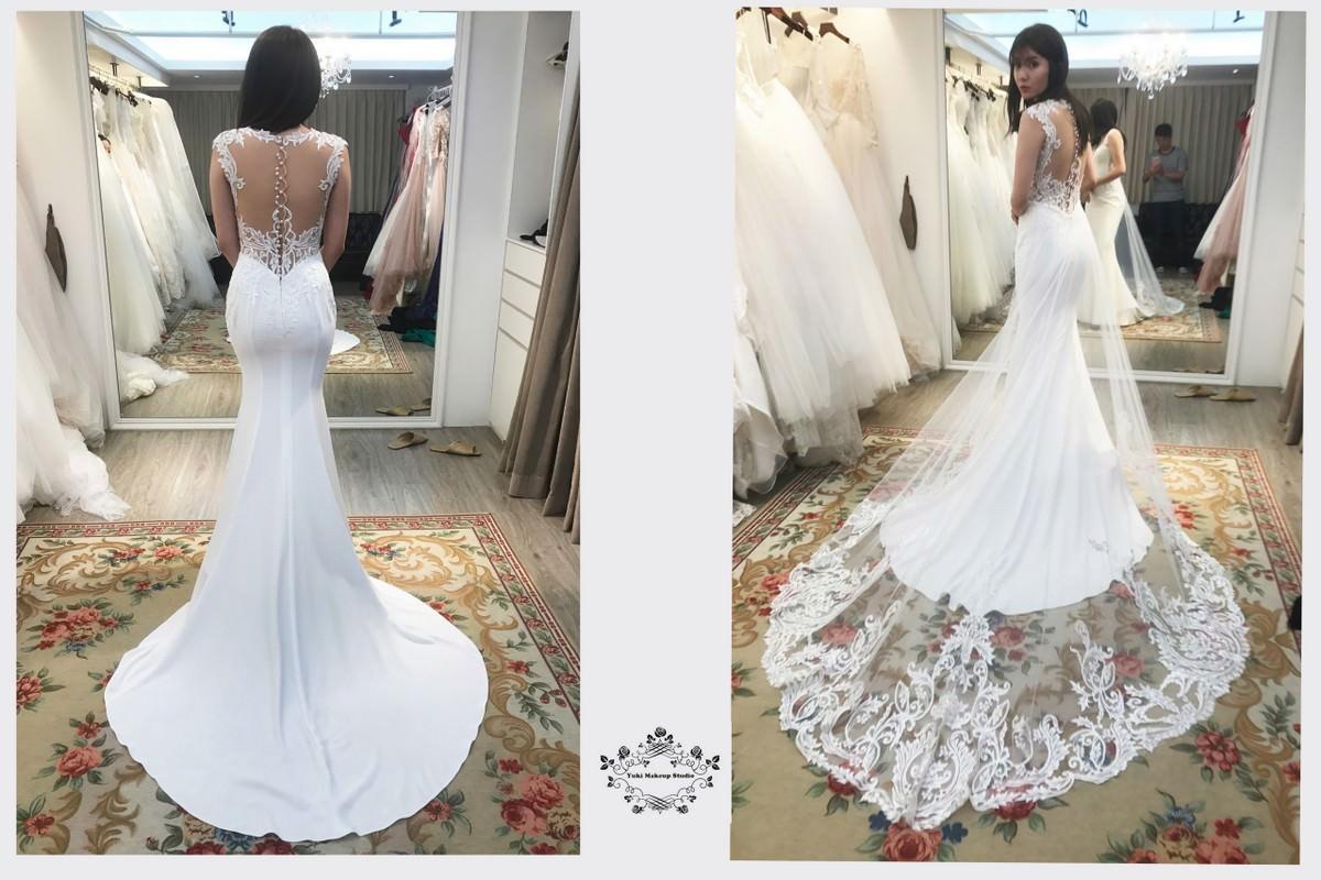 挑婚紗|小個子新娘禮服試穿分享|Diosa 蕾絲。紗 手工婚紗