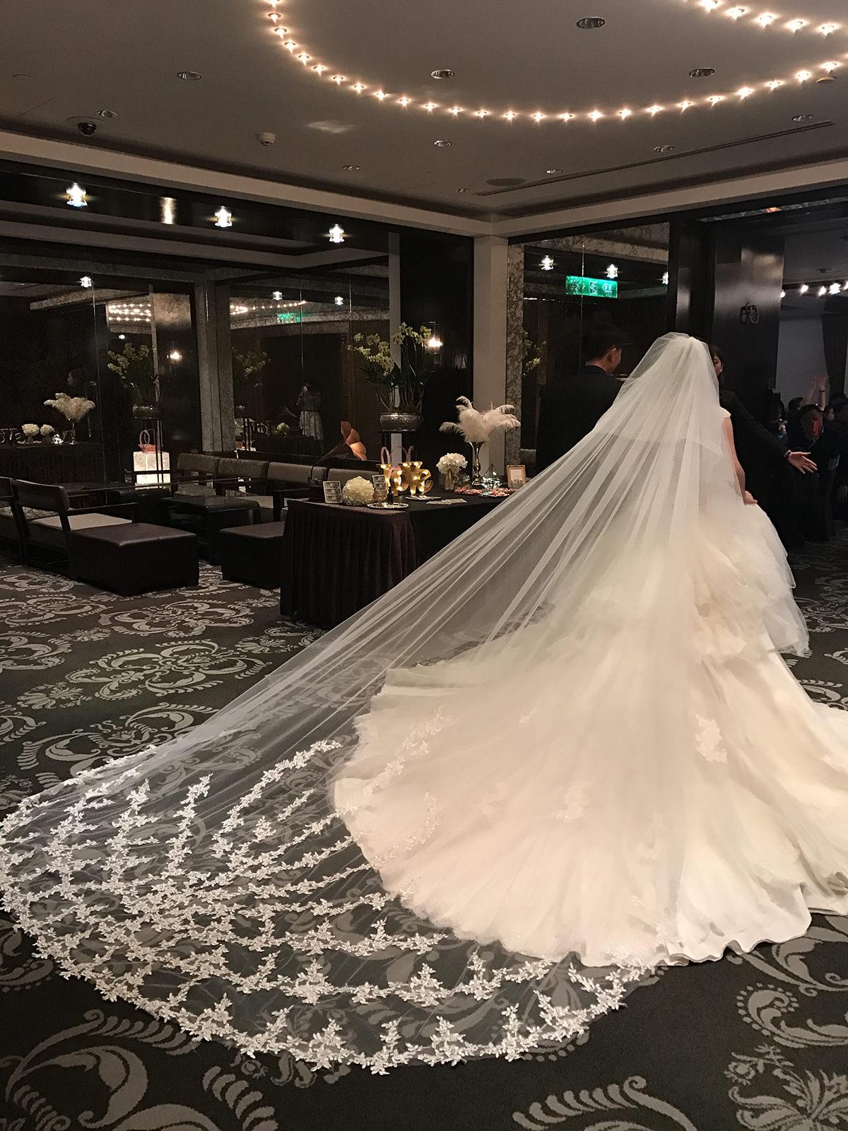 蕾絲長頭紗 新娘飾品