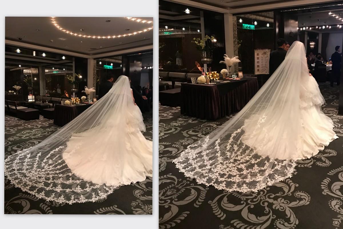 新娘飾品│華麗版蕾絲長頭紗