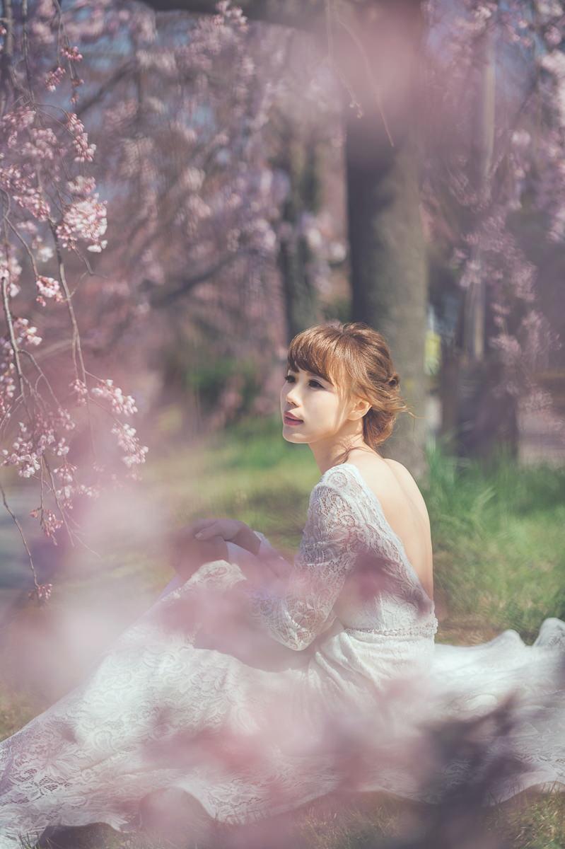 日本海外婚紗 京都櫻花婚紗 京都婚紗 日本拍婚紗 櫻花婚紗 新娘外拍造型