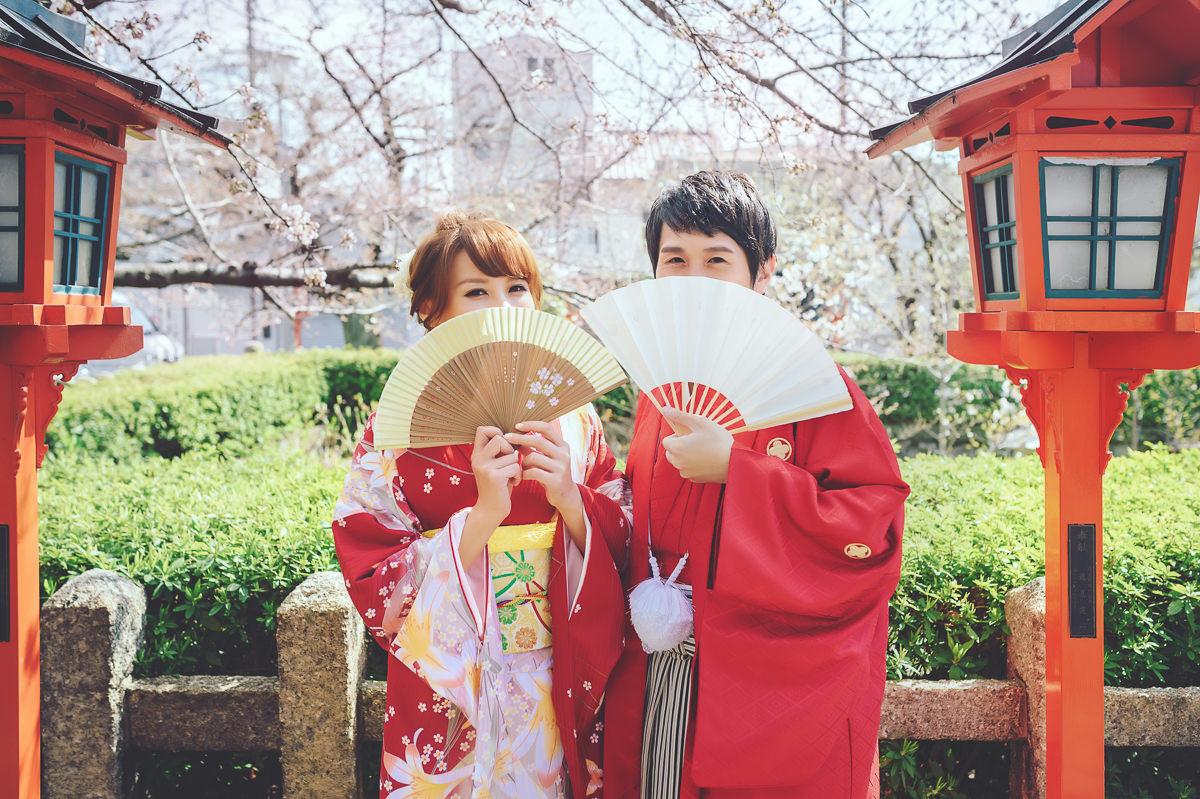 日本海外婚紗 京都櫻花婚紗 京都婚紗 日本拍婚紗 櫻花婚紗 新娘外拍造型 振袖造型 和服造型 六孫王