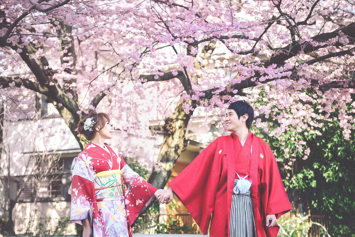 海外婚紗|京都櫻花婚紗
