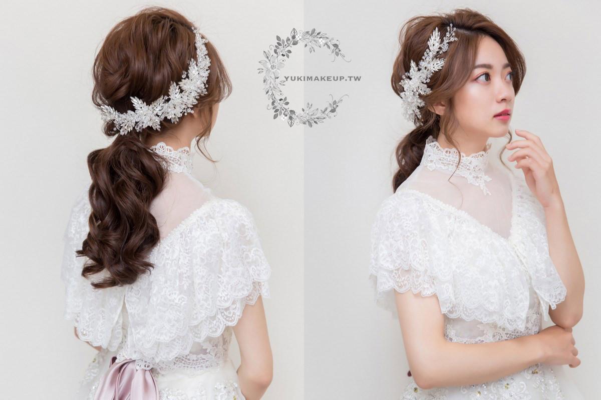 新娘秘書|新秘,新娘造型|新娘髮型|高雄新秘|低馬尾造型|wedding hairstyle|白紗造型