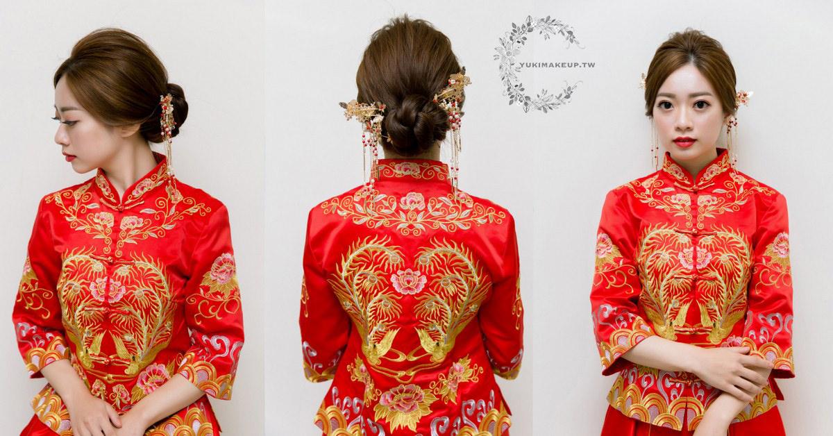 Chanel超炫耀絲絨唇露#194 秀禾服 低盤髮 秀禾服造型 秀禾服髮型 中式禮服 新秘 新娘造型 掛頭 新娘紅唇