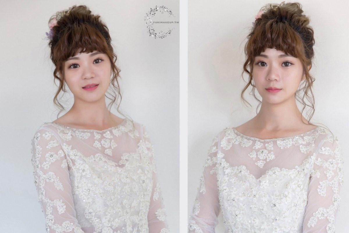 妹妹頭|短瀏海|新娘造型|新娘髮型|鳳眼新娘|新秘|新娘秘書