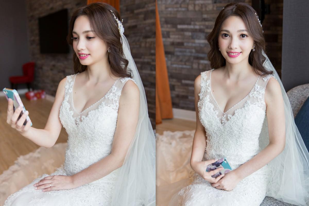 新娘秘書|新秘|新娘造型|新娘髮型|長捲髮造型|白紗造型| 台北新秘YUKI|wedding hairstyle